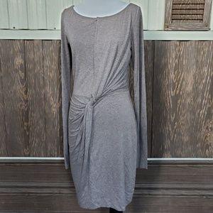 Bailey44 crewneck brown dress twist front size M